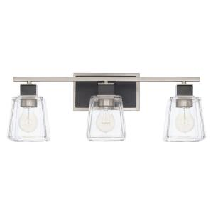 Tux - 3 Light Transitional Bath Vanity Approved for Damp Locations - in Transitional style - 23 high by 8.75 wide