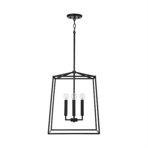 Thea - 4 Light Open Cage Foyer - in Transitional style - 20 Inches Tall and 16 Inches Wide