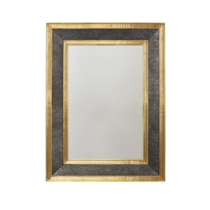 27 Inch Metal Frame Mirror - in Transitional style - 27 high by 36 wide