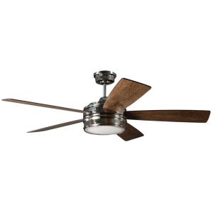 Braxton - Ceiling Fan with Light Kit in Transitional Style - 52 inches wide by 15.07 inches high