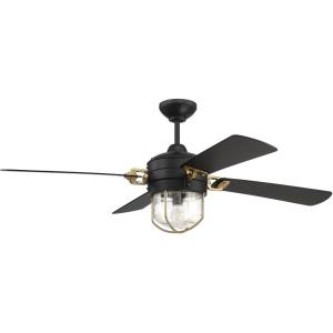 Nola - Ceiling Fan with Light Kit in Transitional Style - 52 inches wide by 20.13 inches high