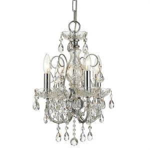 Imperial - Four Light Mini Chandelier in classic, elegant, and casual Style - 12 Inches Wide by 18 Inches High