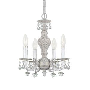 Sutton - Four Light Mini Chandelier in minimalist Style - 13.5 Inches Wide by 15 Inches High