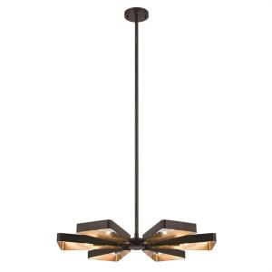 Luna - Six Light Chandelier in classic, elegant, and casual Style - 27 Inches Wide by 46 Inches High