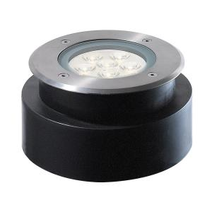 6W 6 LED Round ShallowIn-Ground Light - 6.63 Inches Wide by 3.63 Inches High