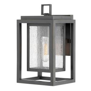 Republic - 1 Light Small Outdoor Wall Lantern in Transitional Style - 7 Inches Wide by 12 Inches High