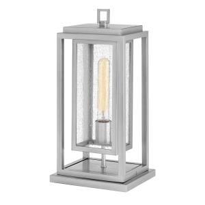 Republic - 1 Light Medium Outdoor Low Voltage Pier Mount in Transitional Style - 7 Inches Wide by 16.5 Inches High