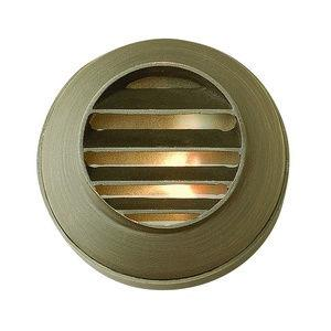 Hardy Island - Round Louvered Low Voltage 1 Light Deck/Step Lamp - 3.4 Inches Wide by 2 Inches High