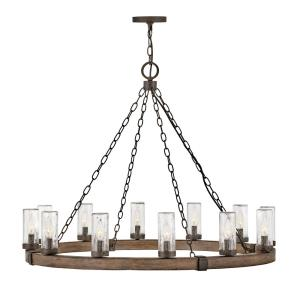 Sawyer - 12 Light Large Outdoor Hanging Lantern in Rustic Style - 38 Inches Wide by 28.5 Inches High