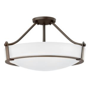 Hathaway - 4 Light Large Semi-Flush Mount in Transitional Style - 20.75 Inches Wide by 12.25 Inches High