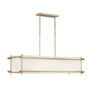 Tress - Six Light Linear Chandelier in Transitional Style - 42 Inches Wide by 23.25 Inches High