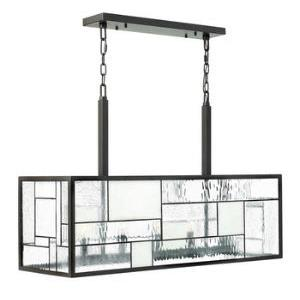 Mondrian - Five Light Chandelier in Craftsman Style - 36 Inches Wide by 24 Inches High