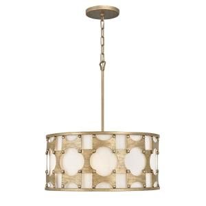 Carter - 5 Light Medium Drum Chandelier in Transitional Style - 21 Inches Wide by 24 Inches High