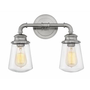 Fritz - 2 Light Bath Vanity in Traditional, Industrial Style - 14.5 Inches Wide by 11.75 Inches High