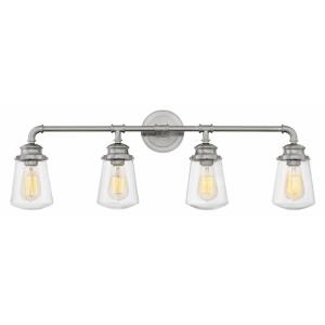 Fritz - 4 Light Bath Vanity in Traditional, Industrial Style - 33.75 Inches Wide by 11.75 Inches High