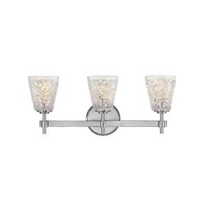 Amabelle - Three Light Bath Vanity in Traditional, Glam Style - 23.5 Inches Wide by 9.5 Inches High