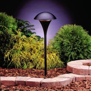 Eclipse - Line Voltage 1 light Path Lamp - with Contemporary inspirations - 25 inches tall by 9 inches wide
