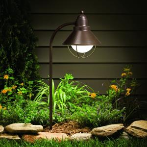 Seaside - Line Voltage 1 light Path and Spread - 8 inches wide
