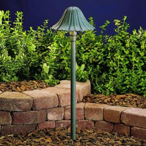 - Low Voltage 1 light Path Lamp - with Transitional inspirations - 23 inches tall by 7.5 inches wide