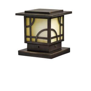 Larkin Estate - Low Voltage Post Light - with Contemporary inspirations - 6 inches tall by 6.25 inches wide