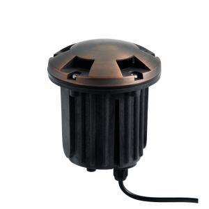 1 light Inground Beacon 5 inches tall by 5 inches wide