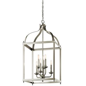 Larkin - 6 Light X-Large Cage Foyer with Traditional Design, 36.25 inches tall by 18 inches wide