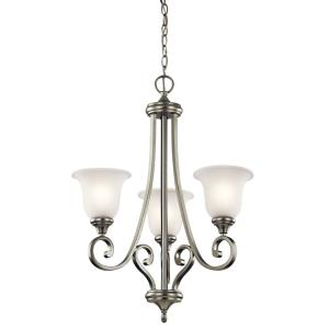 Monroe - 3 Light Small Chandelier - with Traditional inspirations - 29.5 inches tall by 23 inches wide