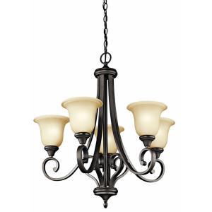 Monroe - 5 Light Medium Chandelier - with Traditional inspirations - 29.5 inches tall by 27.5 inches wide