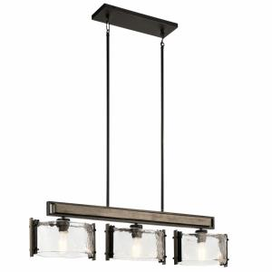 Aberdeen - 3 light Linear Chandelier - with Lodge/Country/Rustic inspirations - 9.75 inches tall by 7.75 inches wide