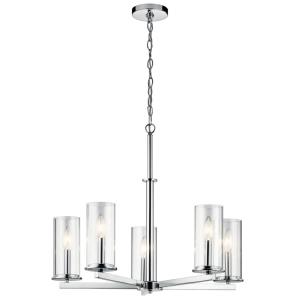 Crosby - 5 light Meidum Chandelier - with Contemporary inspirations - 22.25 inches tall by 26.25 inches wide