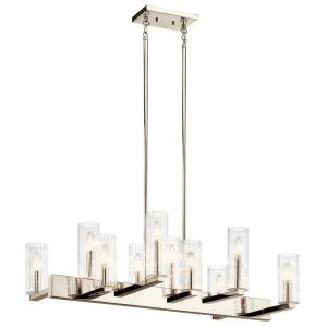 Cleara - 10 light Linear Chandelier - with Transitional inspirations - 16.25 inches tall by 15.75 inches wide