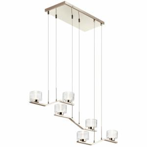 Lasus - 34W 6 LED Linear Chandelier - with Contemporary inspirations - 8.5 inches tall by 13.75 inches wide