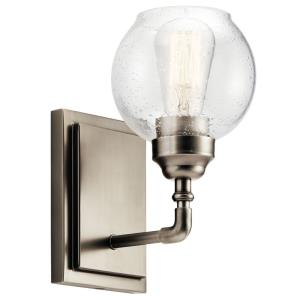 Niles - Transitional 1 Light Wall Sconce - with Vintage Industrial inspirations - 10 inches tall by 5.5 inches wide