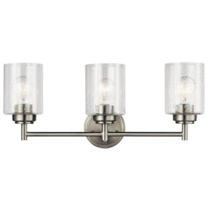 Winslow - 3 Light Bath Vanity Approved for Damp Locations - with Contemporary inspirations - 9.25 inches tall by 21.5 inches wide