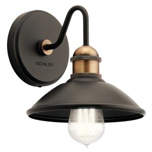 Clyde - 1 Light Wall Sconce - with Vintage Industrial inspirations - 7.25 inches tall by 7.5 inches wide