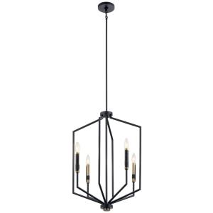 Armand - 4 Light Large Foyer Pendant - with Contemporary inspirations - 27 inches tall by 19 inches wide