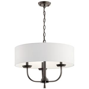 Kennewick - 3 Light Chandelier - with Traditional inspirations - 15 inches tall by 20 inches wide