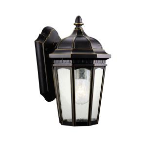 Courtyard - 1 light Outdoor Small Wall Mount - with Traditional inspirations - 11 inches tall by 6.25 inches wide