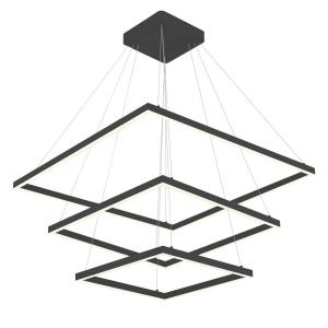 Piazza - 31.5 Inch 134W 1 LED 3-Tier Square Chandelier