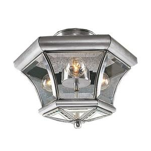 Monterey - 3 Light Flush Mount in Monterey Style - 13 Inches wide by 9.5 Inches high
