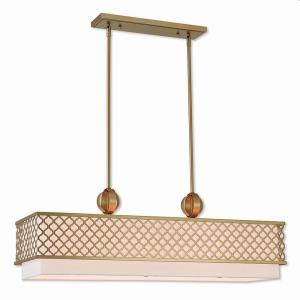 Arabesque - 9 Light Linear Chandelier in Arabesque Style - 12.5 Inches wide by 16.5 Inches high