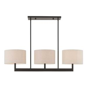Hayworth - 3 Light Linear Chandelier in Hayworth Style - 11 Inches wide by 22 Inches high