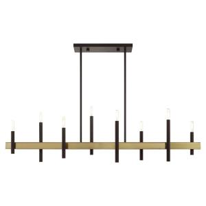Denmark - 8 Light Chandelier in Denmark Style - 9.25 Inches wide by 24 Inches high