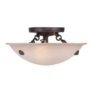 Oasis - 3 Light Semi-Flush Mount in Oasis Style - 12 Inches wide by 7 Inches high
