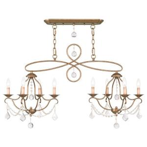 Chesterfield - 8 Light Island/Chandelier in Chesterfield Style - 18 Inches wide by 24 Inches high