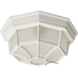 Crown Hill-Two Light Outdoor Flush Mount in Early American style-10.75 Inches wide by 4.75 inches high