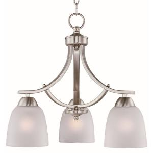 Axis-Three Light Chandelier in Transitional style-18 Inches wide by 16.25 inches high