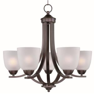Axis-Five Light Chandelier in Transitional style-24 Inches wide by 20.5 inches high