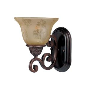 Symphony-1 Light Wall Sconce in Mediterranean style-7 Inches wide by 9.5 inches high
