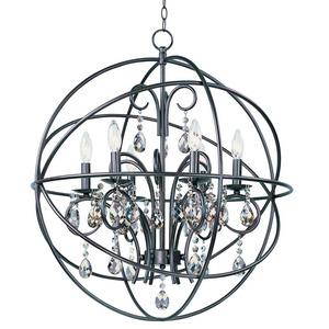 Orbit-Six Light Chandelier in Modern style-25 Inches wide by 28 inches high